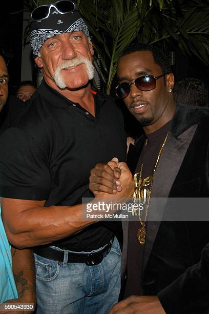Hulk Hogan and Sean Diddy Combs attend Sean John Sprint and Samsung Celebrate the Launch of the Sean John Elite Footwear Collection at Setai Hotel on...