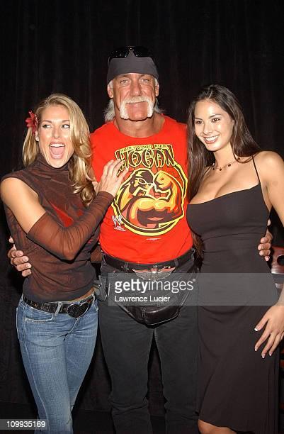 Hulk Hogan and the Miller Lite Catfight Girls Tanya Ballinger and Kitana Baker