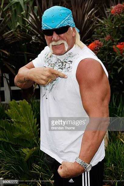Hulk Hogan arrives at Sydney Airport ahead of the Australian Hulkamania tour on November 17 2009 in Sydney Australia