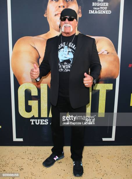 Hulk Hogan attends the HBO World Premiere of 'Andre The Giant' on March 29 2018 in Hollywood California