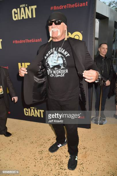 Hulk Hogan attends the Los Angeles Premiere of Andre The Giant from HBO Documentaries on March 29 2018 in Los Angeles California
