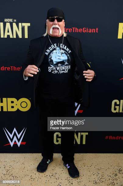 Hulk Hogan attends the Premiere Of HBO's 'Andre The Giant' at The Cinerama Dome on March 29 2018 in Los Angeles California