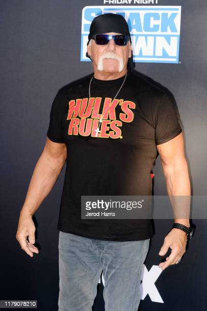 Hulk Hogan attends WWE 20th Anniversary Celebration Marking Premiere of WWE Friday Night SmackDown on FOX at Staples Center on October 04, 2019 in...