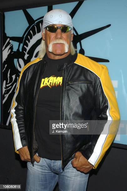 Hulk Hogan during Amanda Bynes Hulk Hogan and James Blunt Visit MTV's 'TRL' March 15 2006 at MTV Studios in New York City New York United States