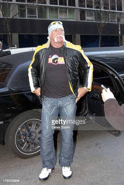 Hulk Hogan during Hulk Hogan and Jordan Bridges Arrive at the WB11 Morning News Studios - March 17, 2006 at WB11 Studios in New York City, NY, United...