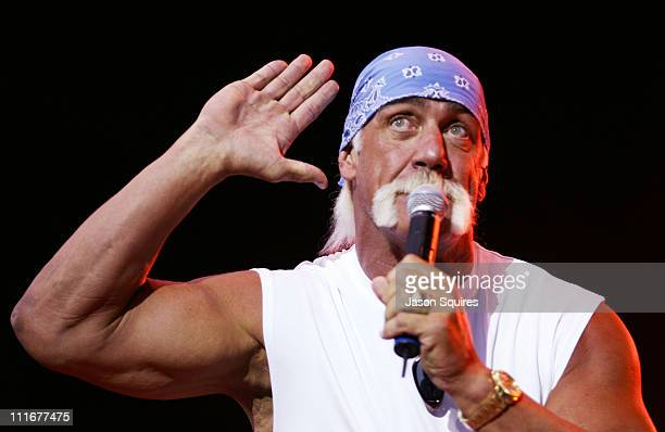 Hulk Hogan during KMXV's Red, White and Boom at Verizon Wireless Amphitheater in Bonner Springs, Kansas, United States.