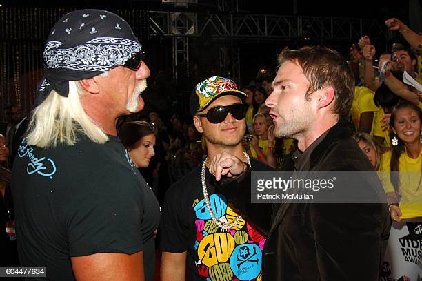 Hulk Hogan Nick Hogan and Brad Renfro attend 2006 MTV Video Music Awards at Radio City Music Hall on August 31 2006 in New York City