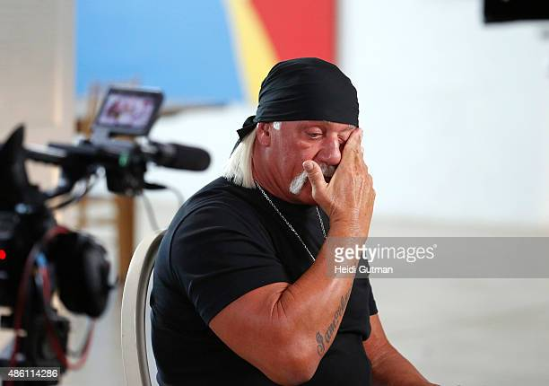 AMERICA Hulk Hogan sat down for an interview with Amy Robach to air on 'Good Morning America' 8/28/15 on the ABC Television Network HULK