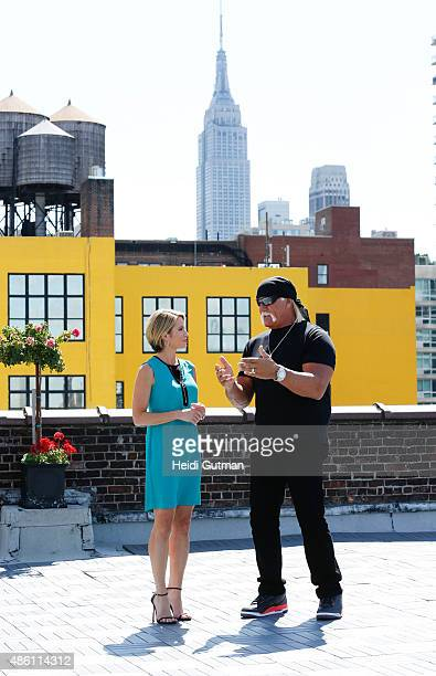 """Hulk Hogan sat down for an interview with Amy Robach to air on """"Good Morning America,"""" 8/28/15, on the Walt Disney Television via Getty Images..."""