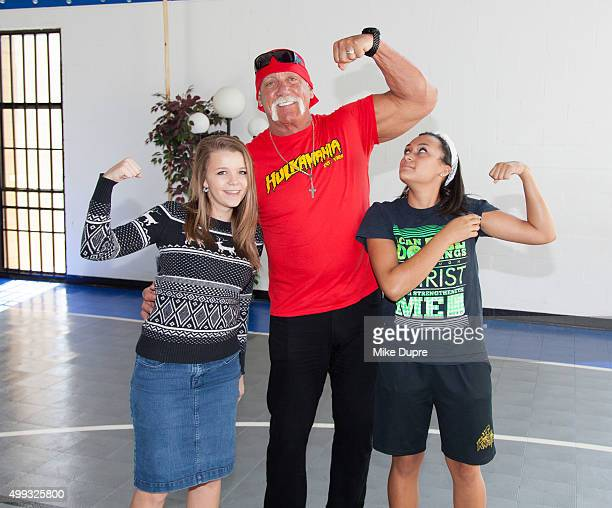 Hulk Hogan visits Hope Children's Home on November 30 2015 in Tampa Florida