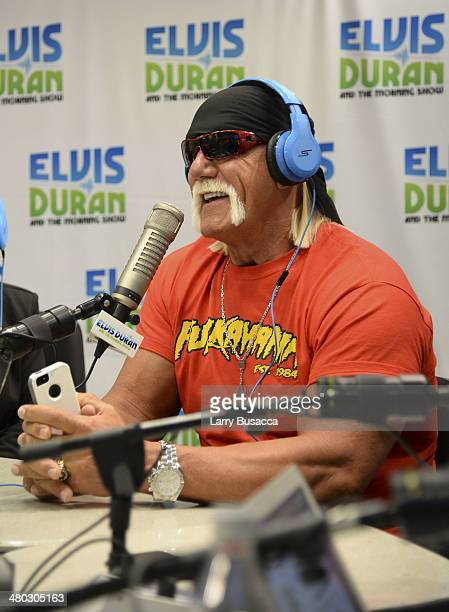 Hulk Hogan visits The Elvis Duran Z100 Morning Show at Z100 Studio on March 24 2014 in New York City