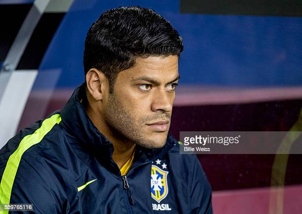 Hulk of Brazil looks on during a group B match between Brazil and Peru at Gillette Stadium as part of Copa America Centenario US 2016 on June 12 2016...