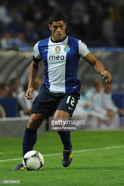 Hulk of FC Porto in action during the Liga Zon Sagres match between FC Porto and Vitoria Guimaraes at Estadio do Dragao on August 25 2012 in Porto...