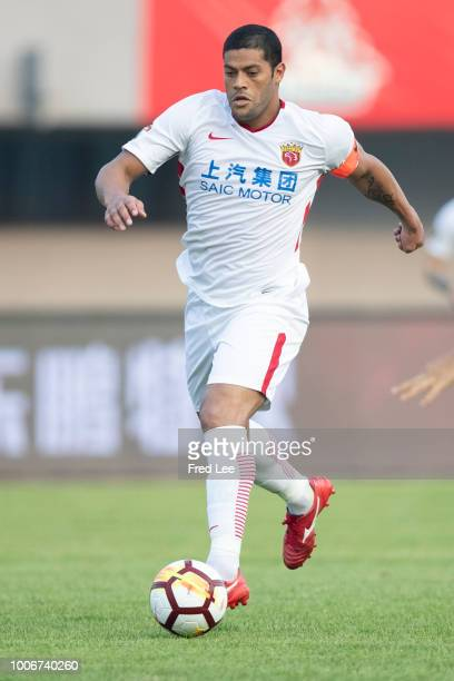 Hulk of Shanghai in action during 2018 Chinese Super League match between Beijing Renhe and Shanghai SIPG at Beijing Fengtai Stadium on July 28 2018...