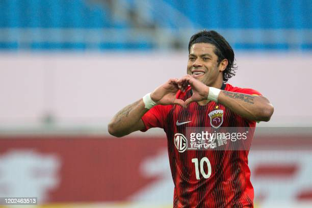 Hulk of Shanghai SIPG celebrates for scoring a goal during the AFC Champions League Preliminary Round match between Shanghai SIPG and Buriram United...