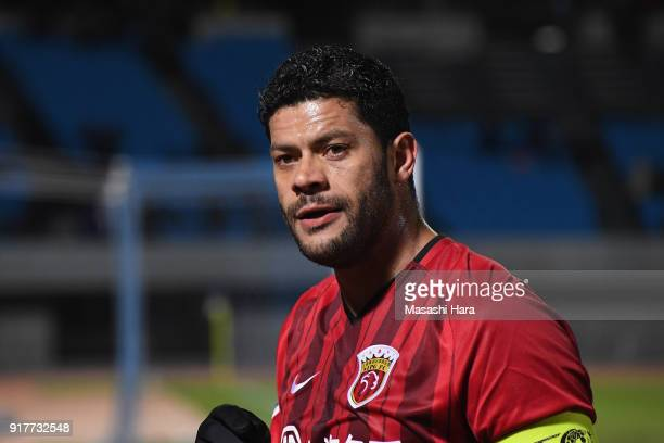 Hulk of Shanghai SIPG celebrates the 10 victory in the AFC Champions League Group F match between Kawasaki Frontale and Shanghai SIPG at Todoroki...