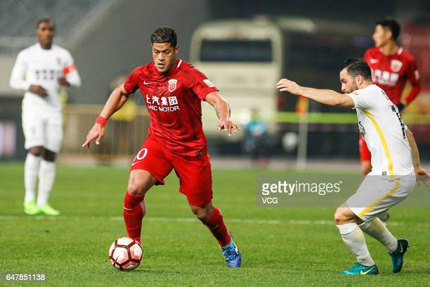 Hulk of Shanghai SIPG dribbles during the Chinese Super League between Shanghai SIPG and Changchun Yatai at Shanghai Stadium on March 4 2017 in...