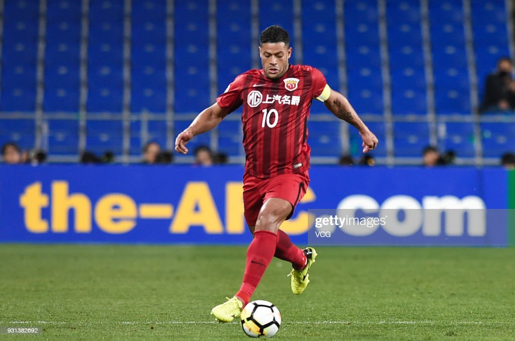 Hulk #10 of Shanghai SIPG drives the ball during the 2018 AFC Champions League Group F match between Ulsan Hyundai FC and Shanghai SIPG at the Ulsan Munsu Football Stadium on March 13, 2018 in Ulsan, South Korea.