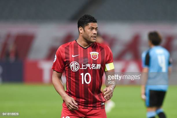 Hulk of Shanghai SIPG in action during AFC Champions League Group F match between Shanghai SIPG and Kawasaki Frontale at the Shanghai Stadium on...