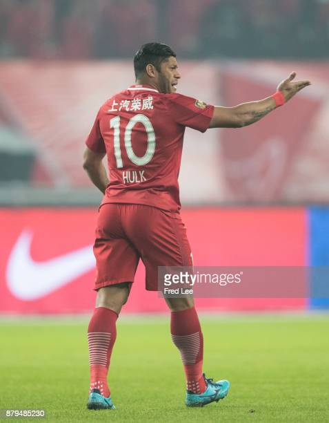 Hulk of Shanghai SIPG in action during the 2017 CFA Cup Final Round match between Shanghai SIPG and Shanghai Greenland Shenhua at Shanghai Stadium on...