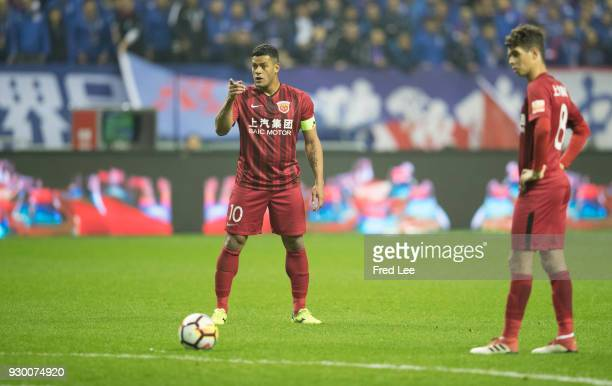 Hulk of Shanghai SIPG in action during the 2018 Chinese Super League match between Shanghai Greenland Shenhua and Shanghai SIPG at Hongkou Stadium on...