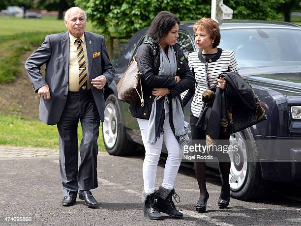 Hull City Chairman Aseem Allam arrives at the stadium prior to the Barclays Premier League match between Hull City and Manchester United at KC...