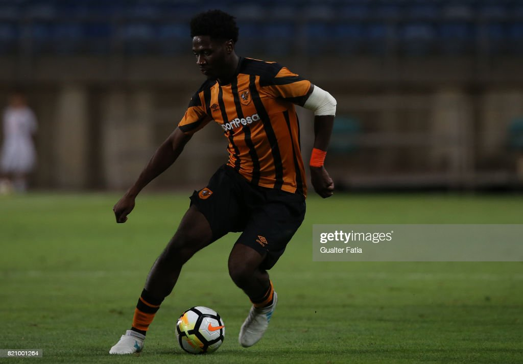 Hull City defender Ola Aina in action during the Algarve Cup match between SL Benfica and Hull City at Estadio Algarve on July 22, 2017 in Faro, Portugal.