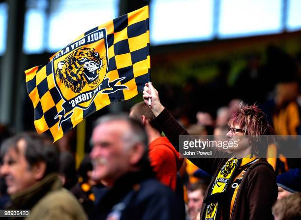 Hull City fan during the Barclays Premier League match between Hull City and Liverpool at KC Stadium on May 9, 2010 in Hull, England.