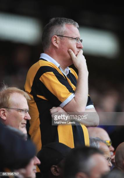 Hull City fan looks dejected during the Premier League match between Crystal Palace and Hull City at Selhurst Park on May 14 2017 in London England