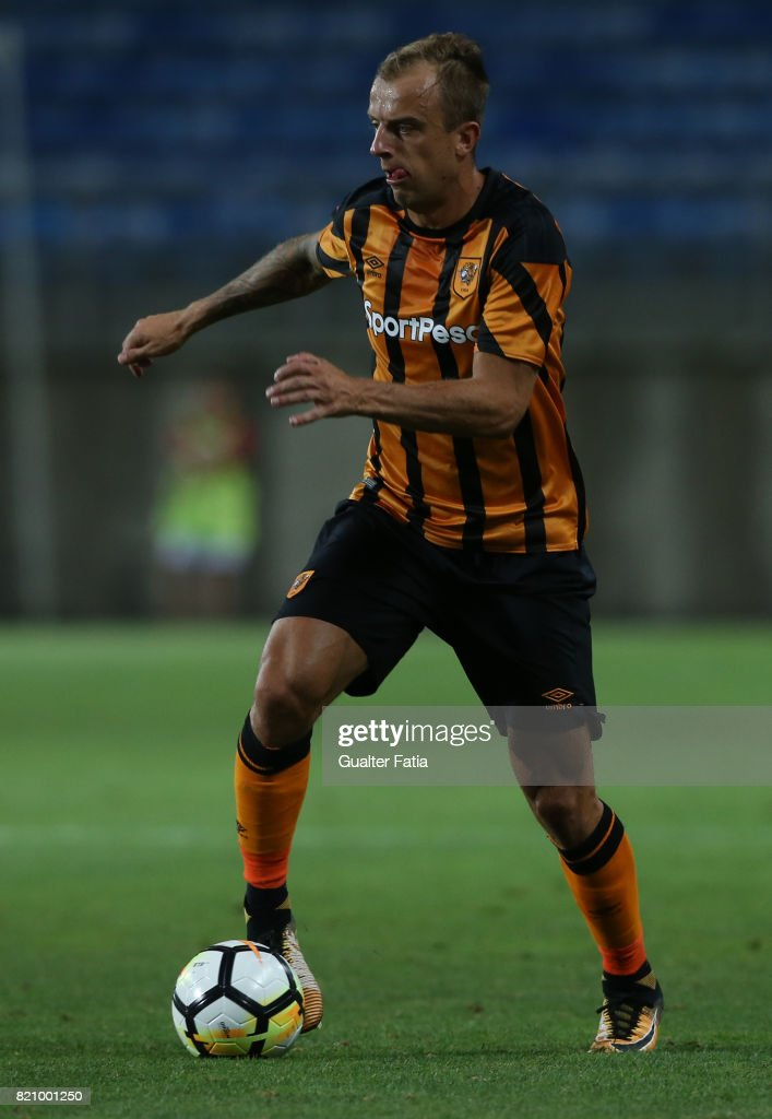 Hull City forward Kamil Grosickiin action during the Algarve Cup match between SL Benfica and Hull City at Estadio Algarve on July 22, 2017 in Faro, Portugal.