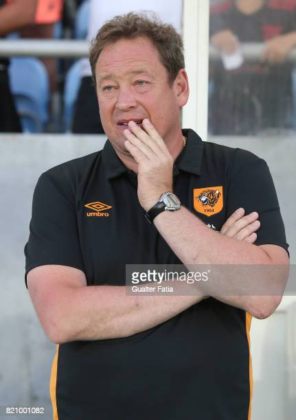Hull City head coach Leonid Slutsky before the start of the Algarve Cup match between SL Benfica and Hull City at Estadio Algarve on July 22 2017 in...