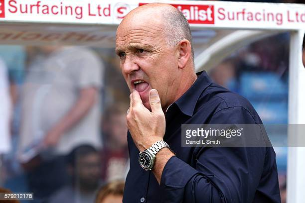 Hull City interim manager Mike Phelan prior to kick off in the preseason friendly between Scunthorpe United and Hull City at Glanford Park on July 23...