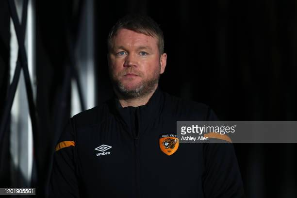 Hull City manager Grant McCann during the FA Cup Fourth Round match between Hull City and Chelsea at KCOM Stadium on January 25, 2020 in Hull,...