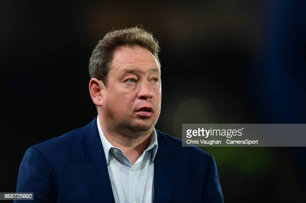 Hull City manager Leonid Slutsky during the Sky Bet Championship match between Hull City and Middlesbrough at KCOM Stadium on October 31 2017 in Hull...