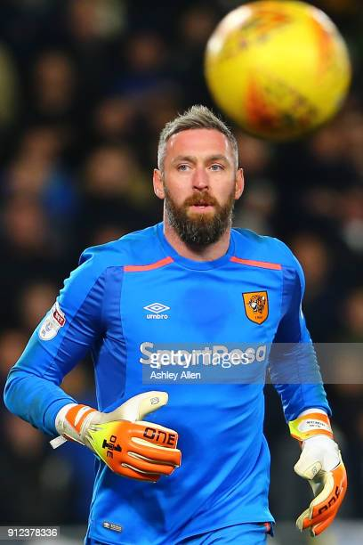 Hull City's Allan McGregor during the Sky Bet Championship match between Hull City and Leeds United at the KCOM Stadium on January 30 2018 in Hull...