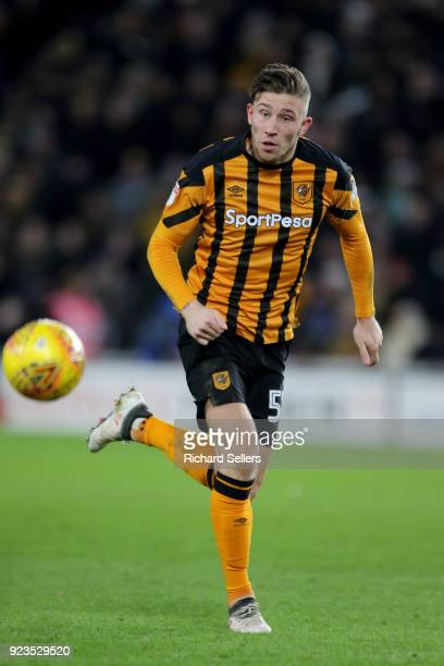 Hull City's Angus MacDonald during the Sky Bet Championship match between Hull City and Sheffield United at KCOM on February 23 2018 in Hull England