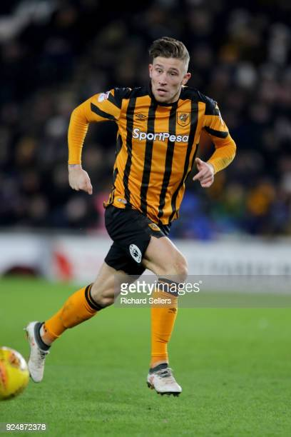 Hull City's Angus MacDonald during the Sky Bet Championship match between Hull City and Sheffield United at KCOM on February 23 2018 in Hull England...