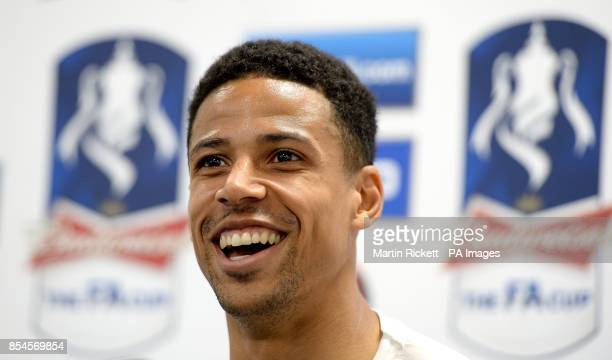 Hull City's Curtis Davies speaks at a press conference, during an FA Cup Media day at the KC Stadium, Hull.