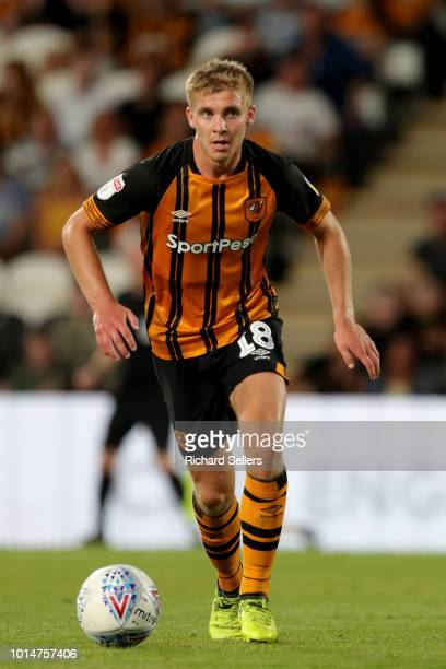 Hull City's Daniel Batty during the Sky Bet Championship match between Hull City and Aston Villa at the KCOM Stadium on August 6 2018 in Hull England...