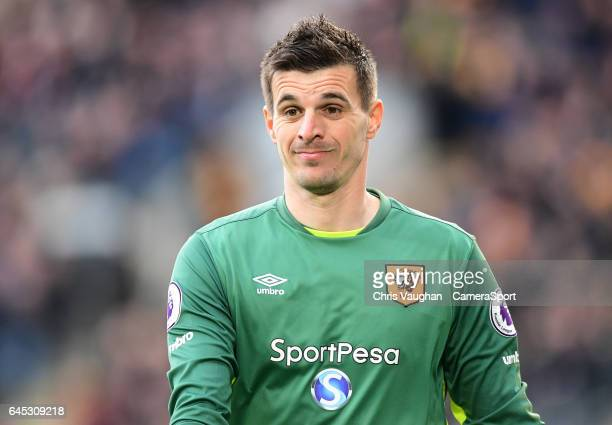 Hull City's Eldin Jakupovic during the Premier League match between Hull City and Burnley at KCOM Stadium on February 25 2017 in Hull England