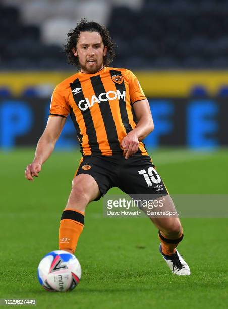 Hull City's George Honeyman during the Sky Bet League One match between Hull City and Burton Albion at KCOM Stadium on November 14, 2020 in Hull,...