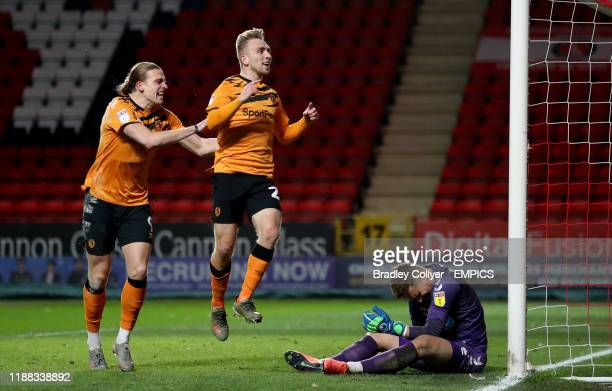 Hull City's Jarrod Bowen celebrates scoring his sides first goal of the game Charlton Athletic v Hull City Sky Bet Championship The Valley