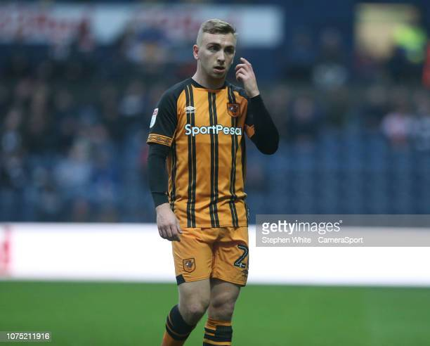 Hull City's Jarrod Bowen during the Sky Bet Championship match between Preston North End and Hull City at Deepdale on December 26 2018 in Preston...