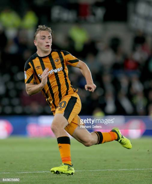 Hull City's Jarrod Bowen during the Sky Bet Championship match between Derby County and Hull City at the Derby County's Pride Park stadium on...