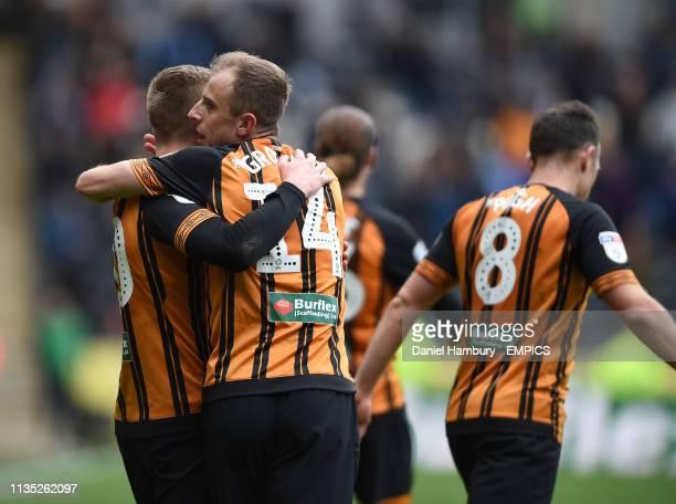 Hull City's Kamil Grosicki celebrates scoring his side's third goal of the game with Jarrod Bowen Hull City v Reading - Sky Bet Championship - KCOM...