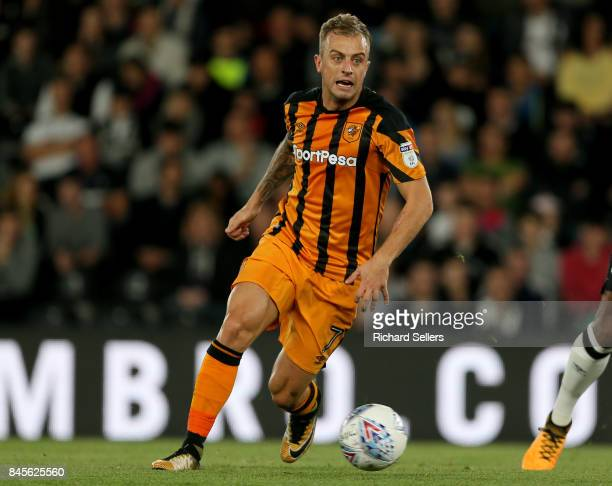 Hull City's Kamil Grosicki during the Sky Bet Championship match between Derby County and Hull City at the Derby County's Pride Park stadium on...