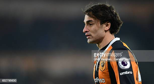 Hull City's Lazar Markovic during the EFL Cup Semi-Final Second Leg match between Hull City v Manchester United at KCOM Stadium on January 26, 2017...