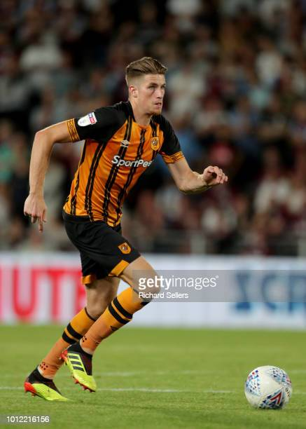 Hull City's Reece Burke during the Sky Bet Championship match between Hull City and Aston Villa at the KCOM Stadium on August 6 2018 in Hull England