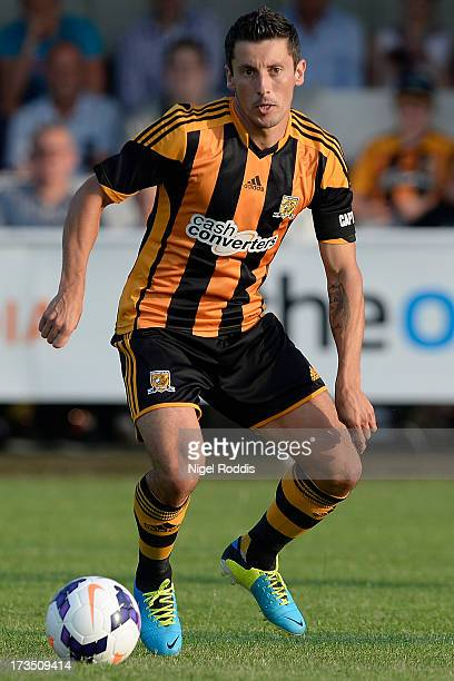 Hull City's Robbie Koren plays the ball North Ferriby during a preseason friendly at the Eon Visual Media Stadium on July 15 2013 in North Ferriby...