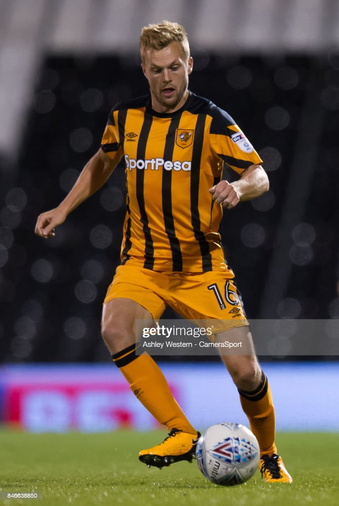 Hull City's Sebastian Larsson in action during the Sky Bet Championship match between Fulham and Hull City at Craven Cottage on September 13, 2017 in London, England.